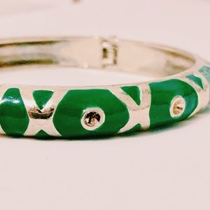 Green and Silver Vintage Cuff